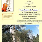 A vos agendas : concert d'Arpèges en Fenouillèdes à Notre-Dame de Laval - Autour de