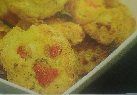 Cookies aux tomates séchées et pignons de pin