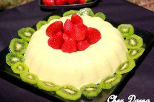flan aux fraises et kiwi فلان بالفراولة و الكيوي