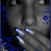 Blue Tiger Nail art