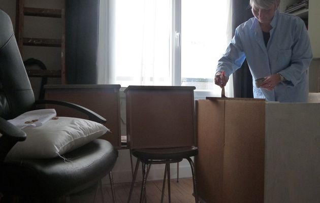Mes créations, en mode peinture sur un meuble...