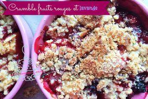 Crumble Fruits Rouges et Lavande