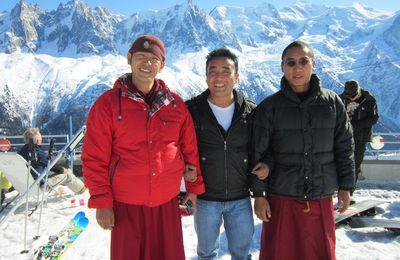 Des Tibétains à Plan-Praz et au Brévent le 29.02.12