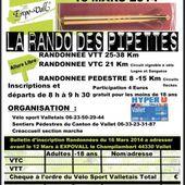 Flyer : la-rando-des-pipettes, le 16/3/2014 (Ref. : 33492)