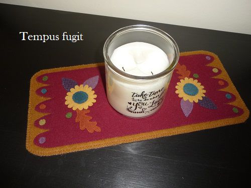 Candle-mat cosy