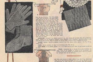 Gants et socquettes tricotés 2 aiguilles 4 - 5 ans