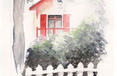 Une maison rouge sur Bordeaux
