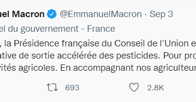 L'Élysée vaut bien un tweet anti-pesticides jupitérien