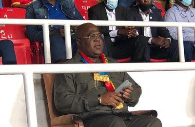 RDC – ANGOLA : Félix Tshisekedi au stade des martyrs pour soutenir les leopards