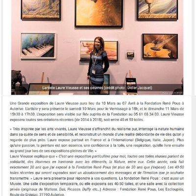 """Laure VIEUSSE dans le """"Petit Journal"""" d'Auterive"""
