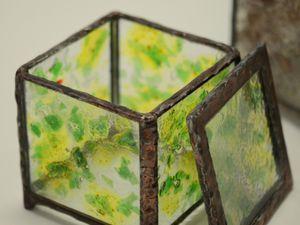 Boites collection en verre Tiffany