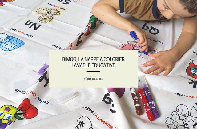 Bimoo, la nappe à colorier lavable éducative