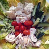 Recette : salade de crudités et sauce tzatziki légère - Les Gralettes