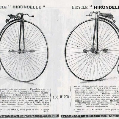 "Bicycles - Cycles -Bicyclettes - Tandems  """" HIRONDELLE """""