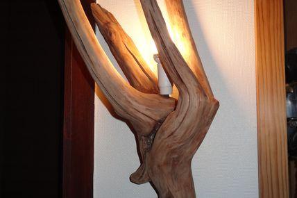 Nouvelle applique en bois flotté