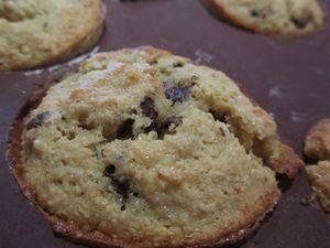 Muffins banane avec de gros chunks de chocolat