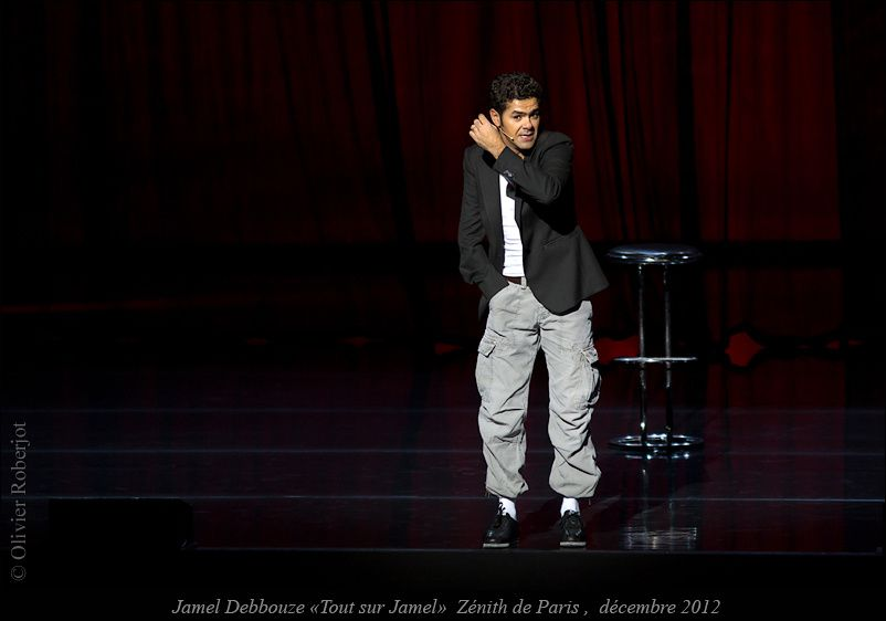 Jamel Debbouze au Zénith de Paris en décembre 2012
