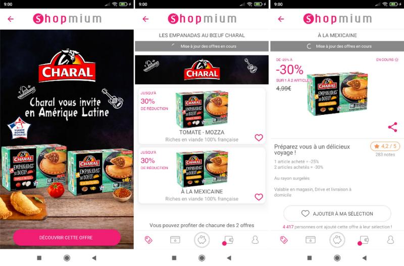 captures d'écran de l'application smartphone Shopmium (tous droits réservés) @ Tests et Bons Plans