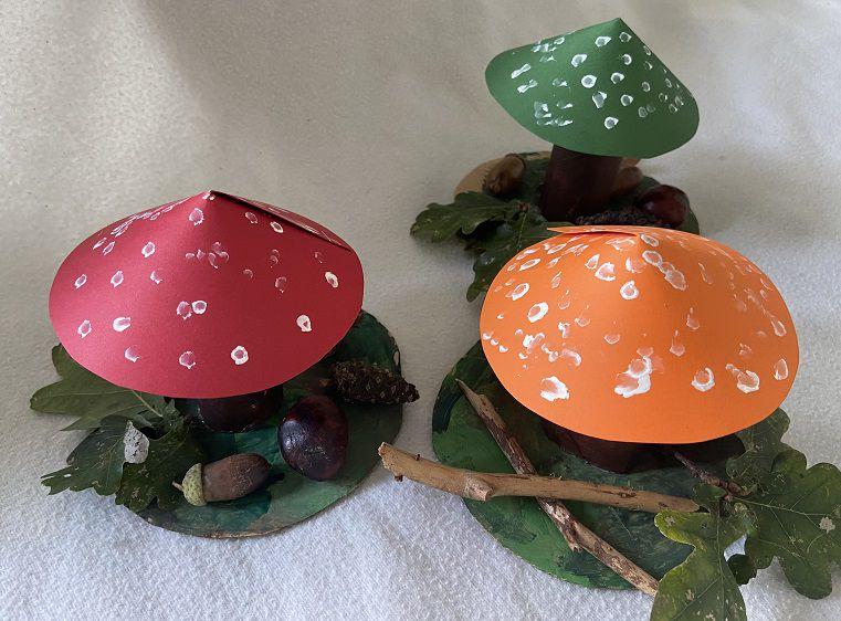 DIY enfants : champignons et sous-bois