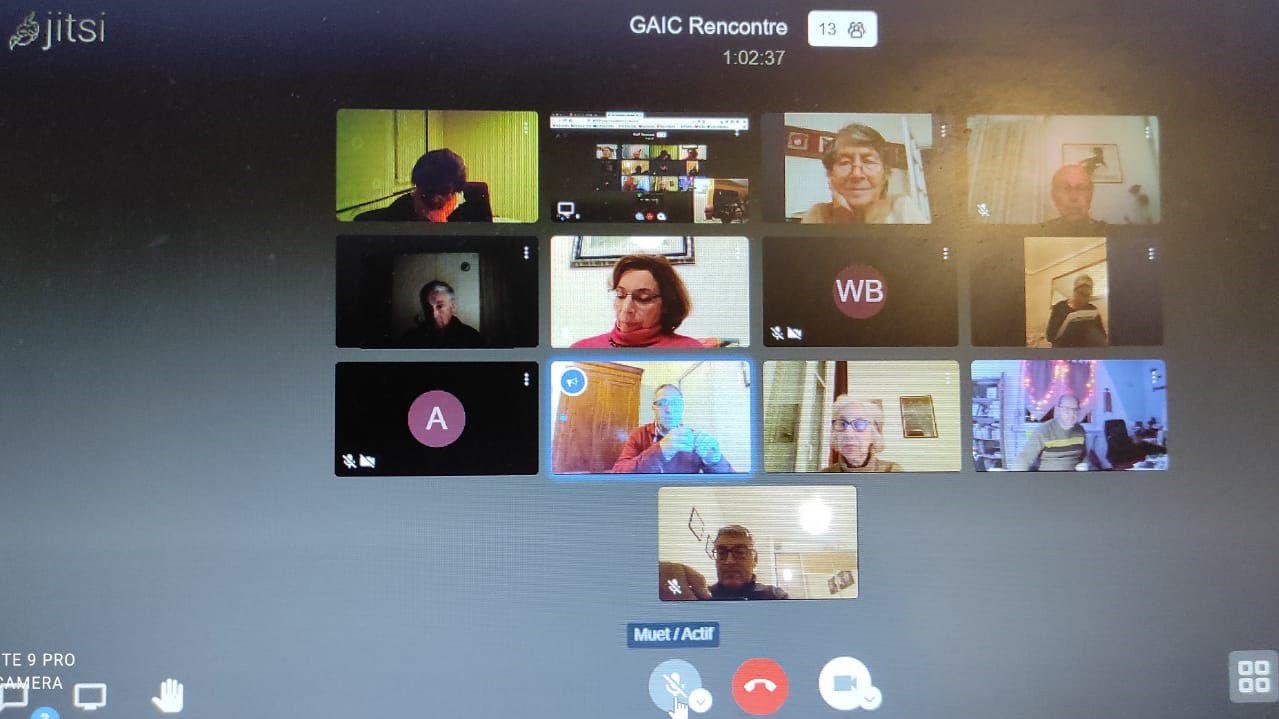 Rencontre des Responsables des GAIC en France: 9 décembre 2020