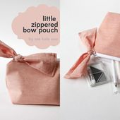 zippered bow pouch pattern + tutorial - see kate sew