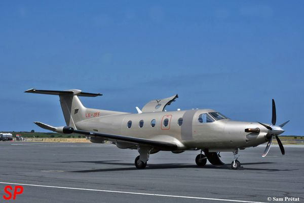 Le Pilatus PC-12 LX-JFF de la compagnie Jetfly.