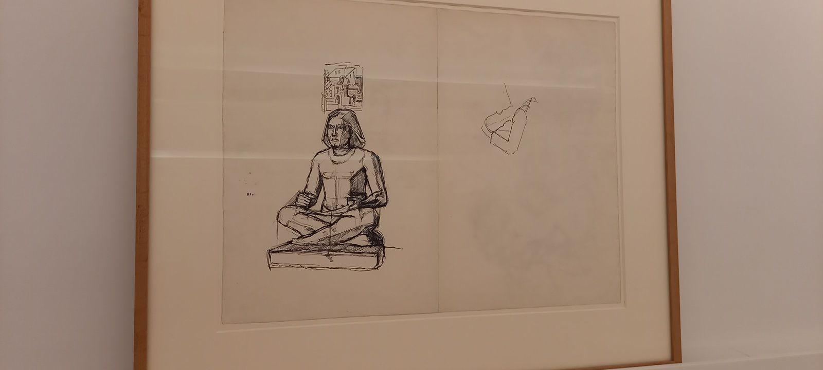 """""""GIACOMETTI et l'égypte antique"""" à l'institut Giacometti"""