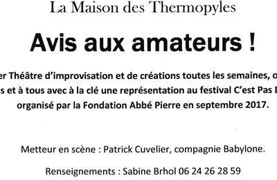 Maison des Thermopyles - Atelier Théâtre d'improvisation
