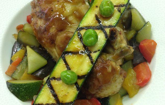 Recette n°151 : Poulet à la provençale aux légumes du soleil