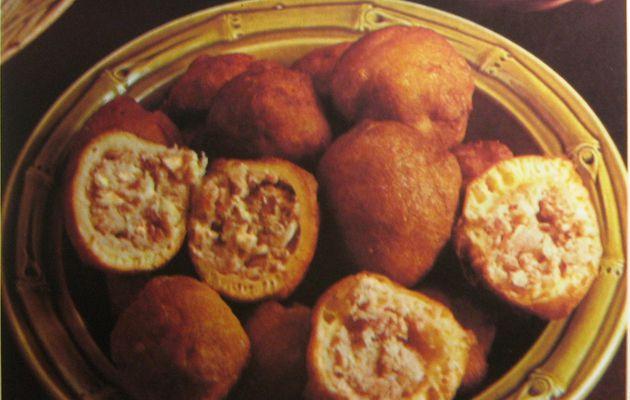 Beignets de poulet et de jambon