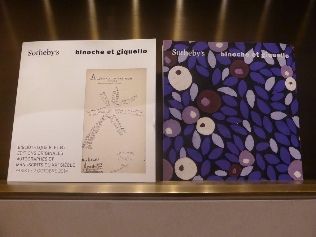 Exposition publique de la bibliothèque R. et B. L., Sotheby's Paris, octobre 2014 © Le curieux des arts Gilles Kraemer