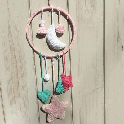 DIY attrape-rêve au crochet .