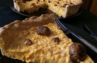 Tarte butternut ,châtaignes et fromage de Madame Loïk