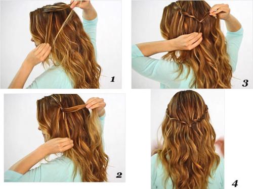 Une coiffure toute simple mais jolie. ♥