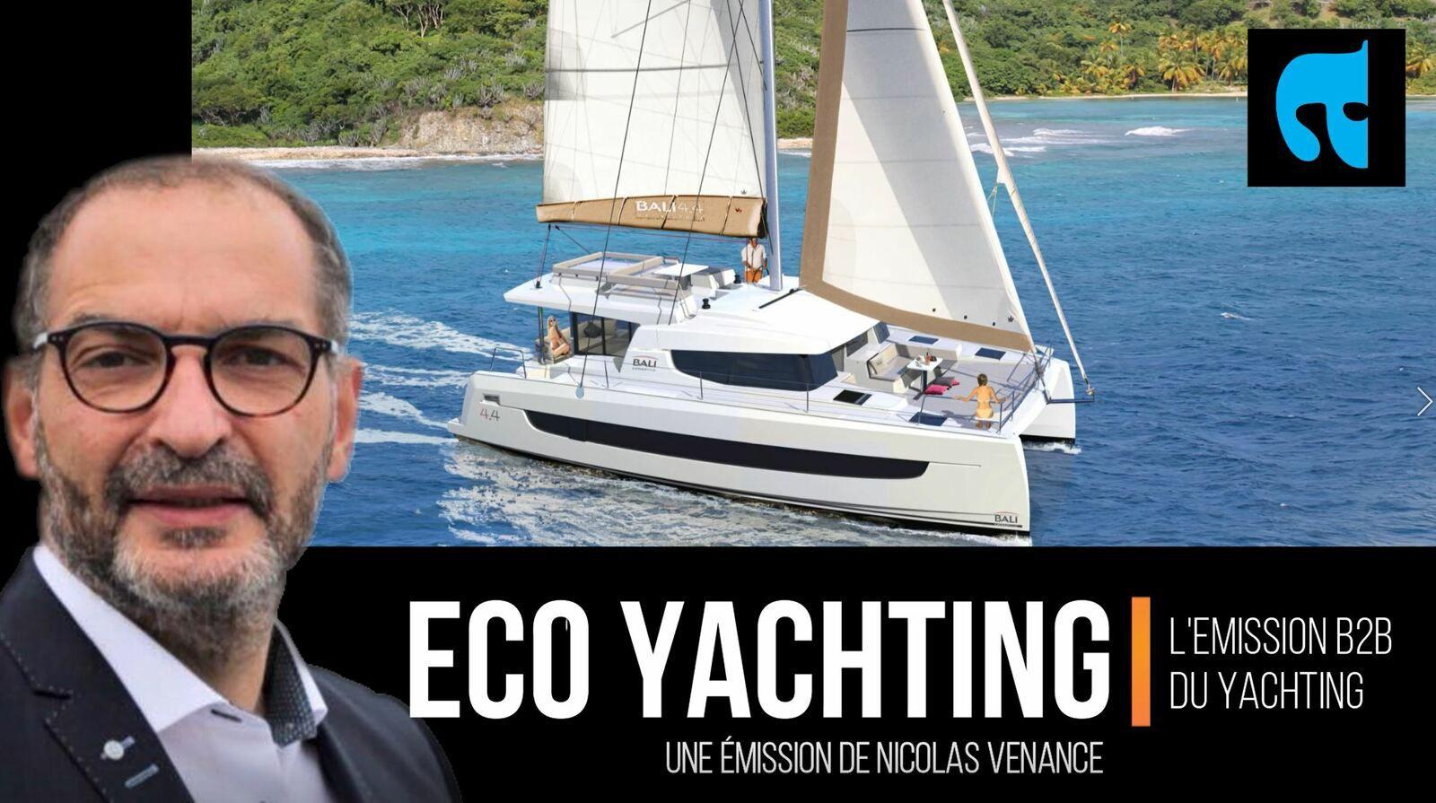 toute premiere annonce du lancement du Bali 4.4 par Bali Catamarans, dans l'émission Eco Yachting d'ActuNautique