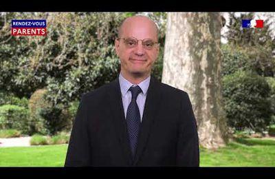 Continuité édagogique - Rendez-vous parents #1 - Jean-Michel Blanquer s'adresse aux familles 27/03