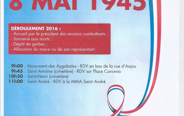Commemoration du 8 Mai 1945
