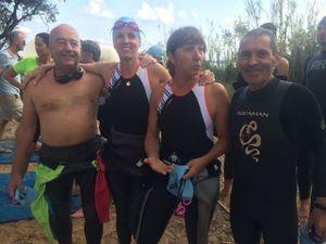 l'aventure du triathlon par équipe à Porquerolles