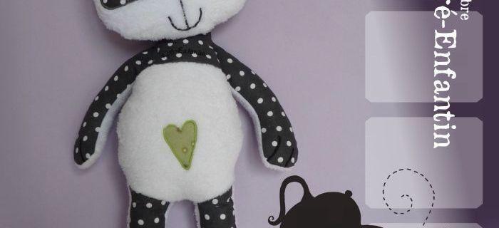 Doudou panda - Laine-et-Chiffons