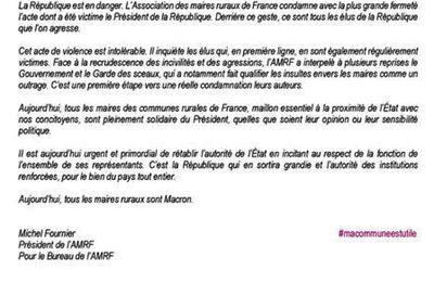 Communiqué des Maires Ruraux de France