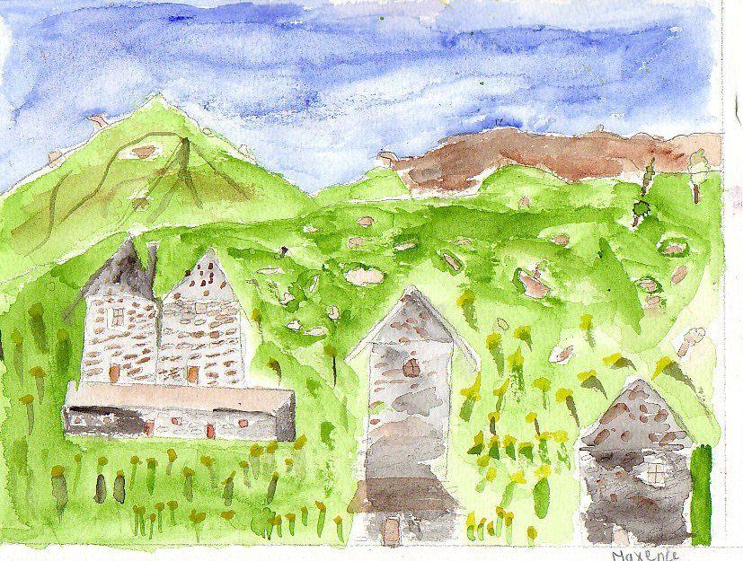 aquarelles réalisées par les élèves de cm2  Année scolaire 2008/2009 intervenant Jean-Loup BENOIT