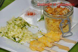 Courgettes en Curry : défi Patak's