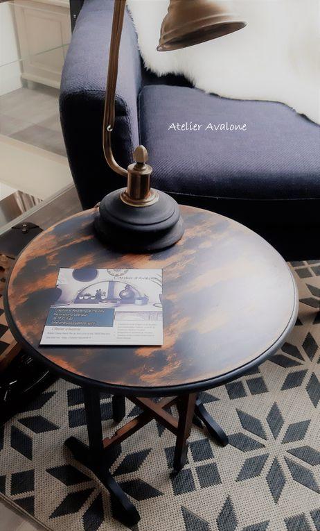 Table d'appoint pliable patine de charme style anglais Août 2021