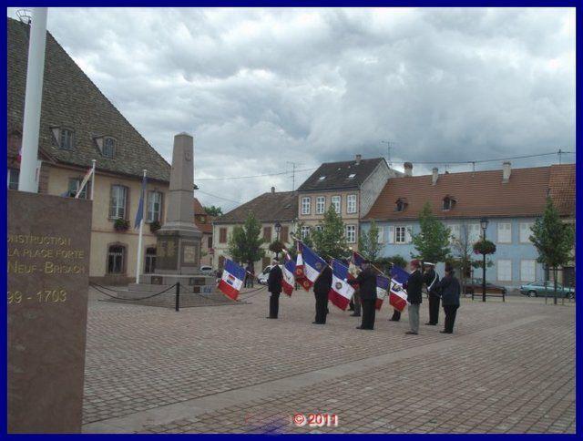 Cérémonie de remise de fanion suivie de remerciements aux porte-drapeaux