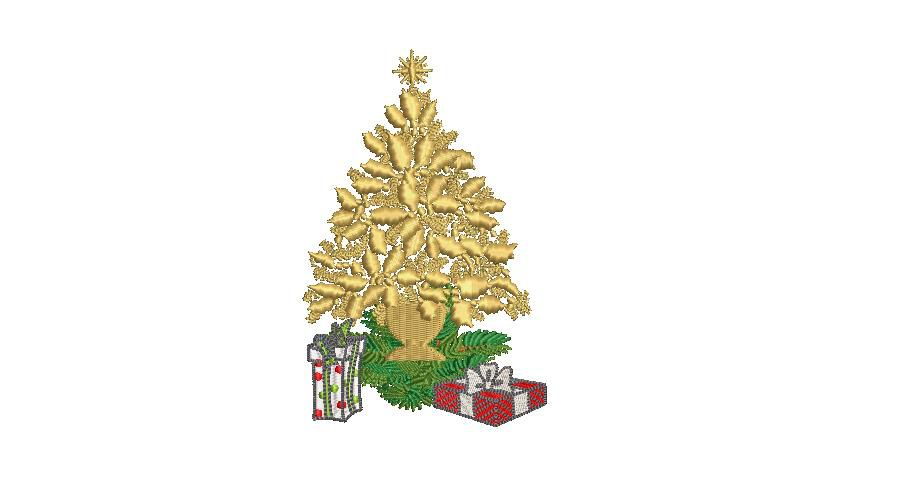 BRODERIE SAPIN DORE