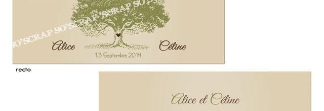 Le faire part post mariage d'Alice et Céline ... très nature(elle)