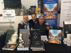 Au musée avec Thierry Cuzin et au Salon Maçonnique du Livre avec Ronan