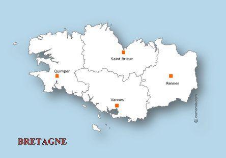 Liens et INFOS de la Région BRETAGNE