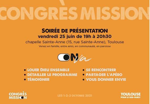 Congrès Mission les 1er, 2 et 3 Octobre