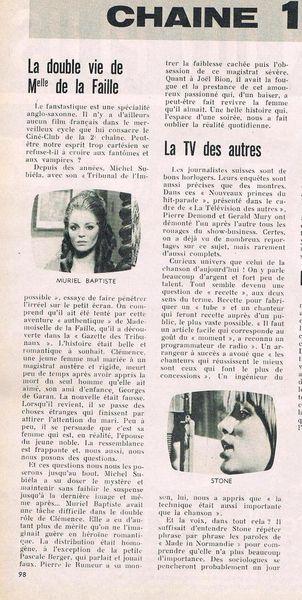 Mardi 26 Février 1974